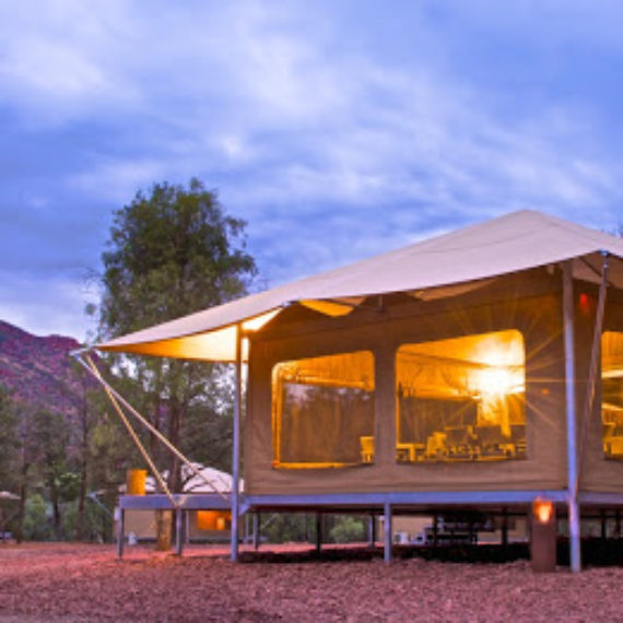 safari tents at Wilpena Pond Resort